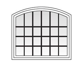 Specialty Windows - Colonial Grille Patterns