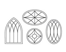 Specialty Windows - Custom Grille Patterns