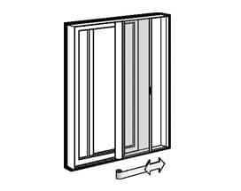 gliding door retractable screen