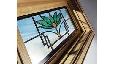 Traditional windows patio doors for Andersen windows art glass