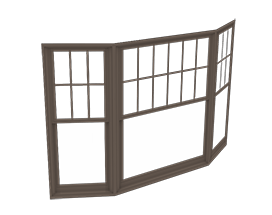 400 Series Double-Hung Bay Window