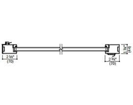 contemporary aluminum horizontal section