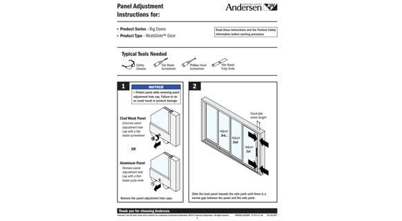 Panel Adjustment Guide