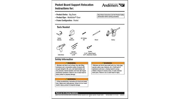 pocket board support