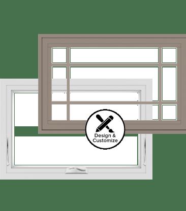 100 series awning window for Window design tool