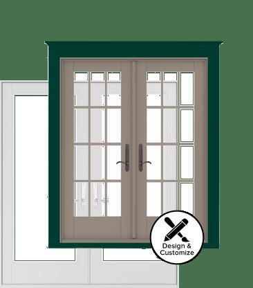 center hinged patio doors. Andersen Windows Design Tool - 200 Series Hinged Patio Door Center Doors