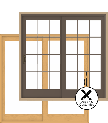 Andersen Windows Design Tool - 400 Series Frenchwood GLiding Patio Door
