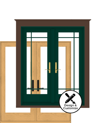 design your own Andersen 400 series hinged patio door