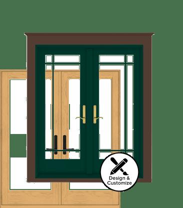 design your own Andersen 400 series hinged patio door