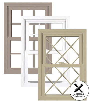 Silver line v3 series double hung window for Window design catalogue