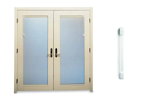 E-Series hinged door blinds