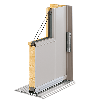 Commercial entry door cross section