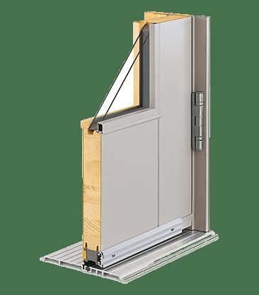 Commercial entry door cross section