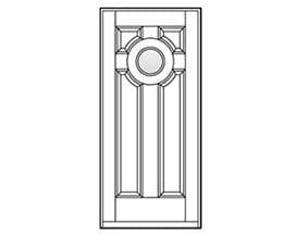 Andersen Entry Door Style 201