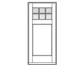 Andersen Entry Door Style 401 with grilles