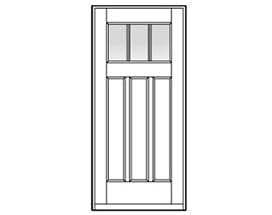 Andersen Entry Door Style 404 with grilles
