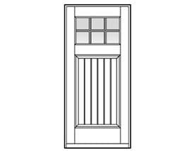 Andersen Entry Door Style 406 with grilles