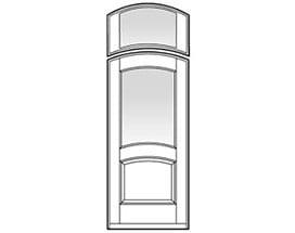 Arched Sash Glazed Transom - Entry Doors