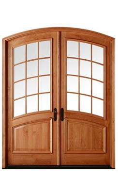 Open Arched Double Doors In Andersen Entry Doors Arch Style Residential Windows