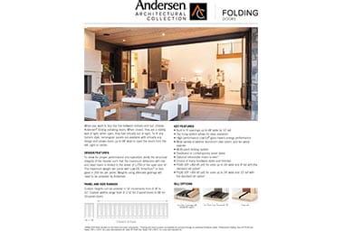 folding door info sheet