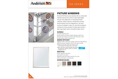 quick info sheet 100 seriespicture window