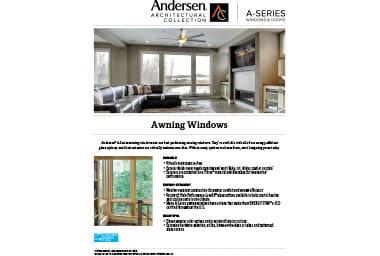 quick info sheet a-series awning window