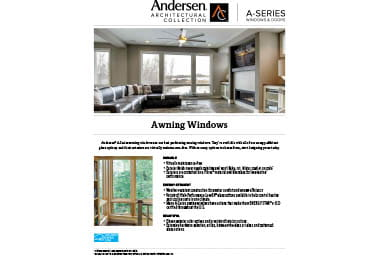 quick info sheet a-series awning window