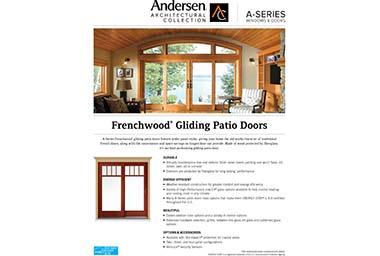 quick info sheet a-series gliding patio door