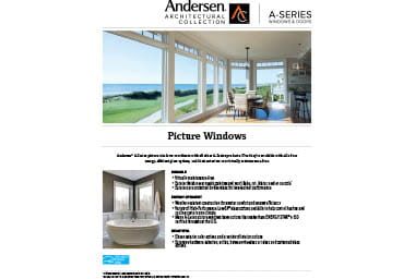 quick info sheet a-series picture window