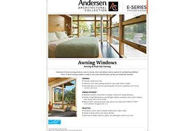quick info sheet e-series awning window