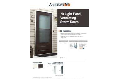 6 Series 3 4 Light Storm Door