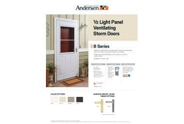 8 Series 1 2 Light Storm Door