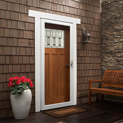 10 Series Fullview Interchangeable Storm Door Beauty Shot