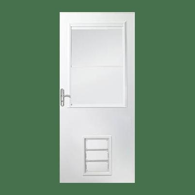 10 1/2 Light Panel Ventilating Storm Door w/ Pet Door