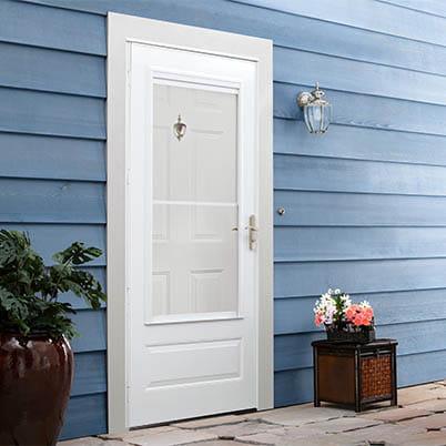 10 Series 3/4 Light Panel Ventilating Storm Door Beauty Shot