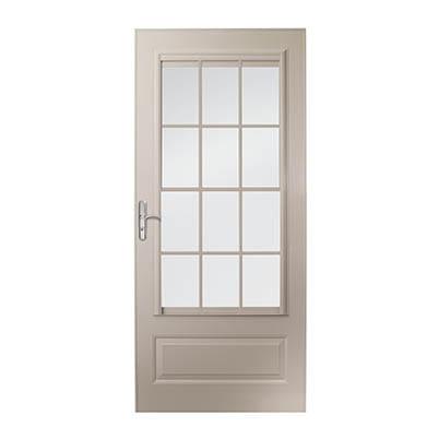 10 Series 3/4 Light Panel Ventilating Storm Door Exterior