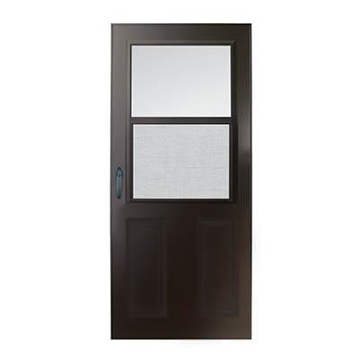 6 Series 1/2 Light Panel Ventilating Storm Door Exterior