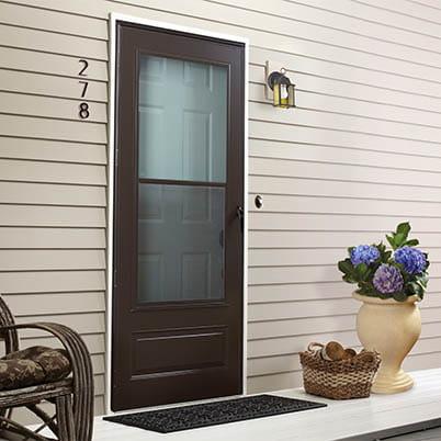 6 Series 3/4 Light Panel Ventilating Storm Door Beauty Shot