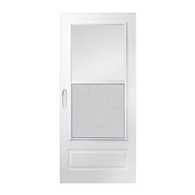 6 Series 3/4 Light Panel Ventilating Storm Door Exterior