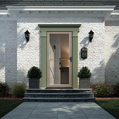 8 Series Fullview Retractable Storm Door Beauty Shot