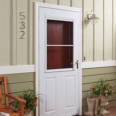 8 Series 1/2 Light Panel Ventilating Storm Door Beauty Shot