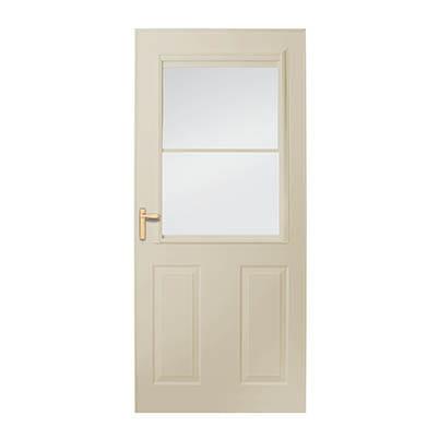 8 Series 1/2 Light Panel Ventilating Storm Door Exterior