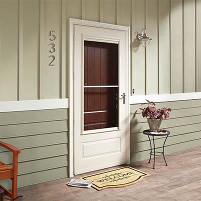 8 Series 3/4 Light Panel Ventilating Storm Door Beauty Shot