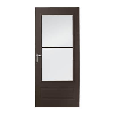 8 Series 3/4 Light Panel Ventilating Storm Door Exterior
