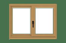 400 series gliding window standard sizing