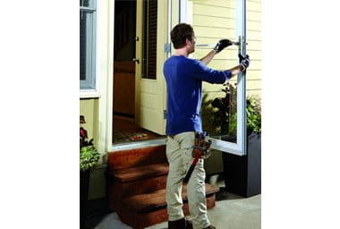 removal system glass using the andersen storm change quick release door doors