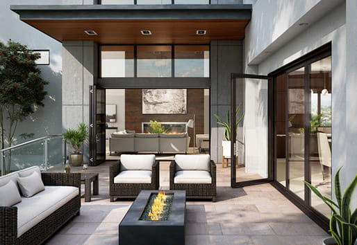 folding patio door architectural collection