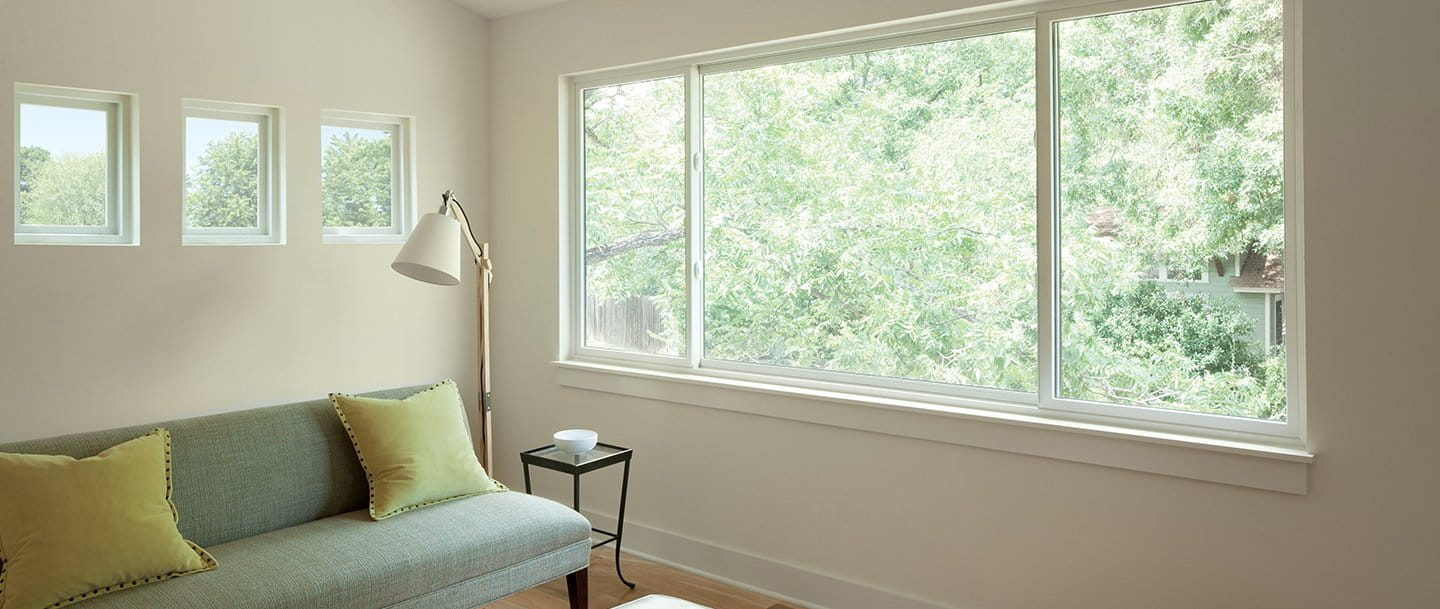 100 series gliding window for Andersen windows r value