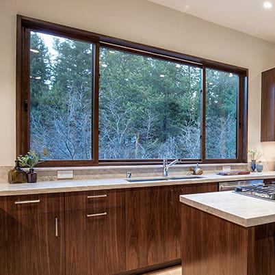 E-Series gliding window kitchen