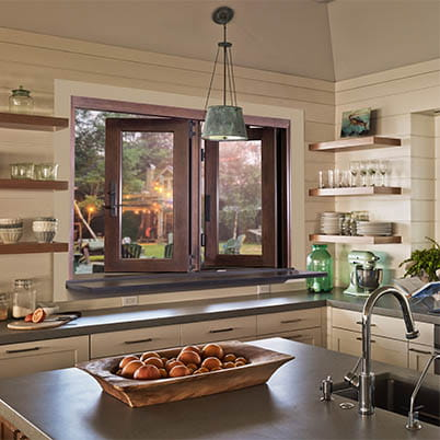 Pass-Through Folding Window in Kitchen